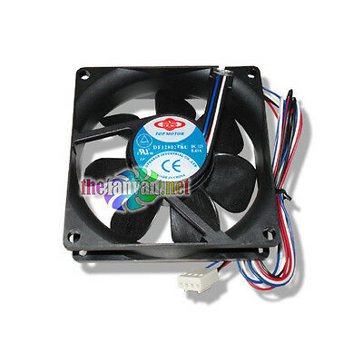 80mm x 25mm 4 pin PWM fan Replacement 4 wire Case or CPU Fan!