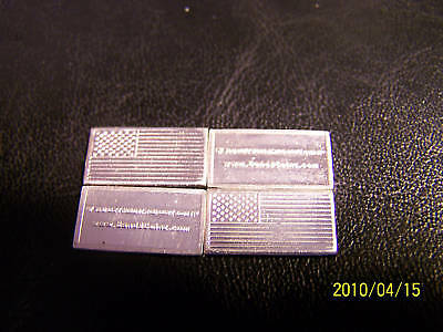 1-GRAM.999 PURE SILVER BAR/OF*****US AMERICAN FLAG*****