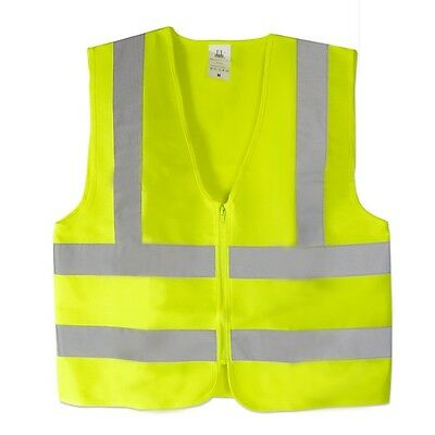 LOT of 10 --  Neon Green-ANSI Safety Vests