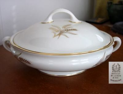 Lenox HARVEST / WHEAT Covered Vegetable / Casserole Bowl / Dish