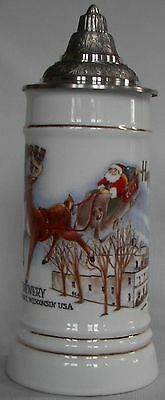 Stevens Point Brewery, Stevens Point, Wisconsin 1990 1st Holiday Beer stein