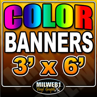 "3'x 6' Custom Vinyl Banner, 13oz FULL COLOR (36""x72"")"