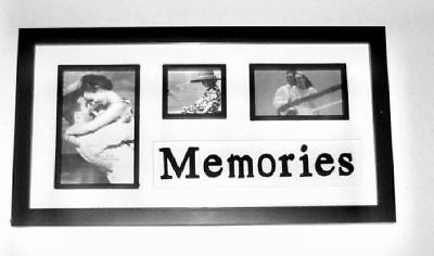 Black Picture Frame/ Multiple Photo Display/ Fun Room Wall Hanging Memory