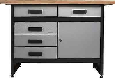 werkbank 120 x85x60 cm 5 schubladen 1 t r platte 40 mm eur 329 99 picclick de. Black Bedroom Furniture Sets. Home Design Ideas