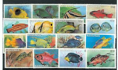 PESCI - FISHES BAHAMAS 1986 Common Stamps