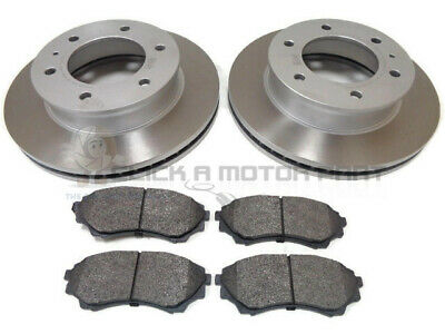 FORD RANGER 2.5 3.0 TDCi 4x4 2006-2012 FRONT 2 BRAKE DISCS AND PADS SET (288MM)