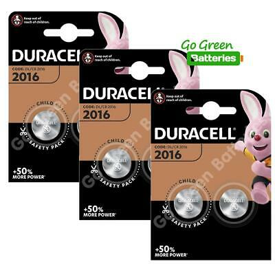 6 x Duracell CR2016 3V Lithium Coin Cell Battery 2016, DL2016, BR2016, SB-T11