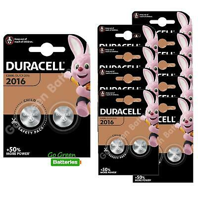 20 x Duracell CR2016 3V Lithium Coin Cell Battery 2016, DL2016, BR2016, SB-T11
