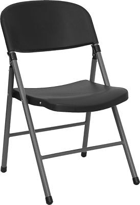 Lot of 24 Black Heavy Duty Steel Frame Folding Chairs