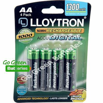 4 x Lloytron AA Rechargeable Batteries 1300 mAh NiMH HR6 HR6 ACCU phone