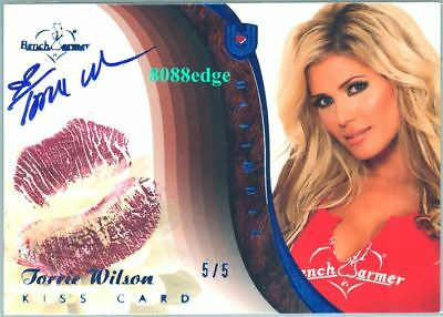 2010 Benchwarmer Ultimate Kiss Blue Auto: Torrie Wilson #5/5 Autograph