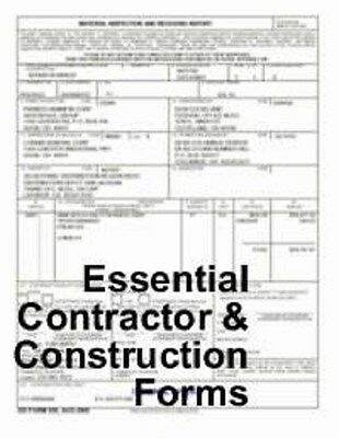 Essential Business Forms Contractor & Construction CD