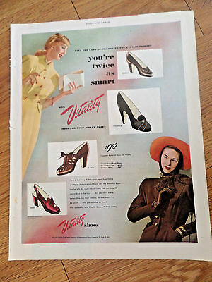1947 Vitality Shoes Ad  Lady of Figures Fashion