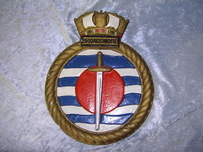 HMS Broadsword Ships Plaque - Unmounted