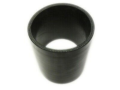 """BLACK Silicone Hose Coupler 70mm Straight 2.75"""" Silicon Joiner"""