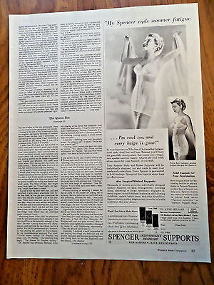 1949 Spencer Bra Girdle Ad  I'm Cool Too