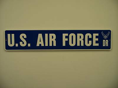 "US AIR FORCE Street Sign 6""x30"" Military decal USAF"