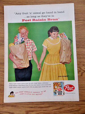 1958 Post Cereal Ad  Sweethearts 1958 Lucky Strike Cigarette Ad Guys Building ?
