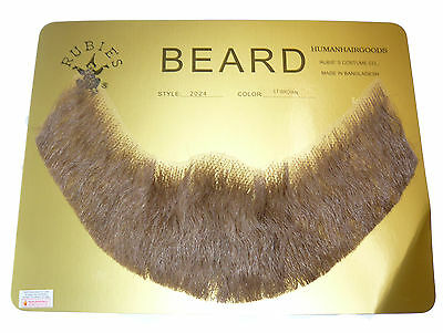 Human Hair Beard Costume Beard 6 Top Stick Strips Rubies Free USA Shipping 2024