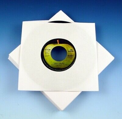 """500 7"""" Paper Record Sleeves - White - 90 Gsm - Free 24H Delivery"""