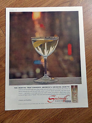 1960 Smirnoff Vodka Ad Martini That Changed America