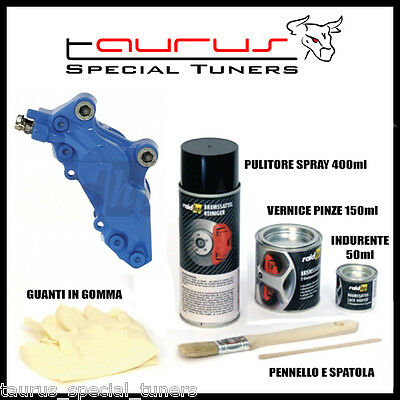 Kit Vernice Alte temperature Pinze Freno BLU Lucido Caliper Tamburi Brembo