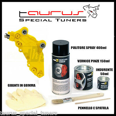 Kit Vernice Alte temperature Pinze Freno GIALLO Lucido Caliper Tamburi Brembo