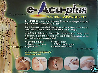 Acu Pen Electronic Acupuncture Stimulator Brand New