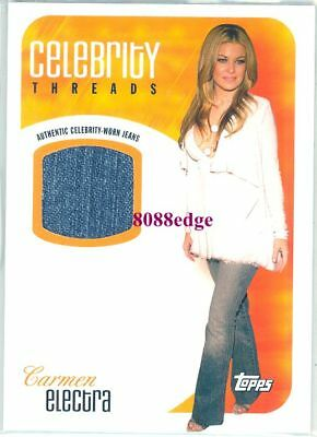 2005-06 Topps Celebrity Threads Jeans Swatch: Carmen Electra - Baywatch/playboy