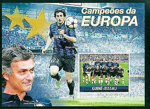 Stamps Guinea-Bissau Champions Cup Football Inter 2010