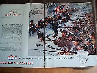 1962 American Oil Battle  Lookout Mountain Military Ad