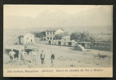 Brallo Bralos Railway Station Train Greece ca 1905