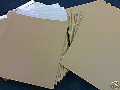 "100 12"" Strong Brown All Board Record Mailers & 150 Stiffeners Free 24H"