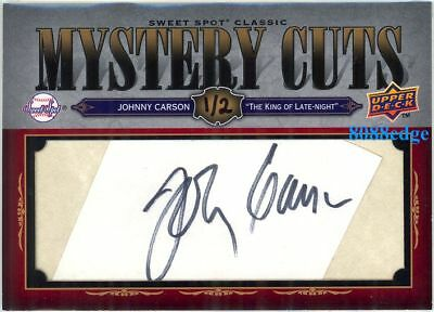 2008 Ud Mystery Cuts Autograph Auto: Johnny Carson #1/2