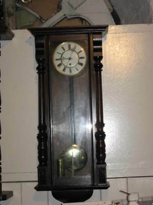 C.1900 Eight Day Single Weight Driven Vienna Wall Clock • £645.00