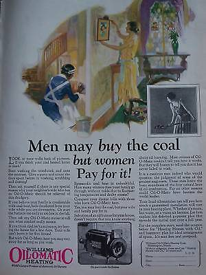 1926 Williams Oil-O-Matic heating Maid Cleaning Ad