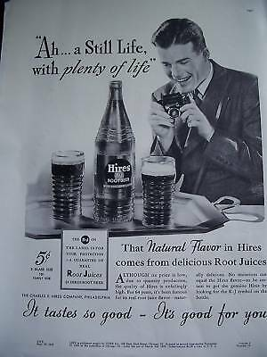 1937 Hires Root Beer Rootbeer Plenty Life  Full Page Ad