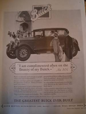 1927  BUICK Car Complimented often on the beauty Ad