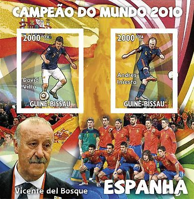 Football Wold Champion 2010 Spain Guinea Bissau Stamps