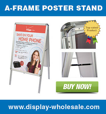 Double Side Sidewalk Snap Frame Sandwich Sign Board with Protective Covers