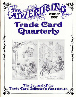 """1996 Spring /""""Advertising Trade Card Quarterly/"""" MAGAZINE back issue TCCA Journal"""