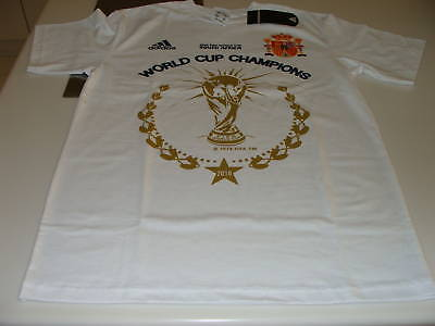 Team Spain 2010 World Cup Soccer T Shirt S Champions