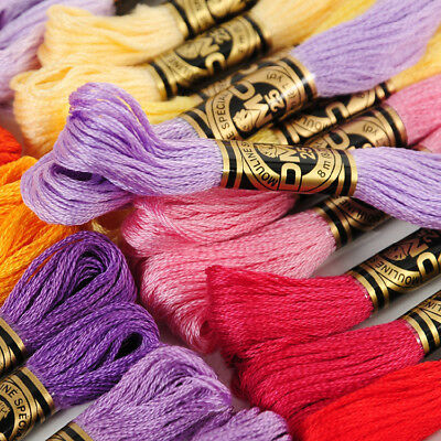 10 SKEINS NEW DMC EMBROIDERY FLOSS ART117ASST 516 COLOR AVAILABLE 8.7 yds-6stand
