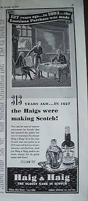 1940 Haig & Haig Scotch 1803 Louisiana Purchase Art Ad