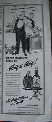 1941 Haig & Haig Scotch Whisky Boss Comes to Dinner Ad