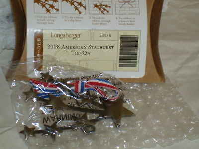 Longaberger 2008 American Starburst Tie-On #23586 - NEW