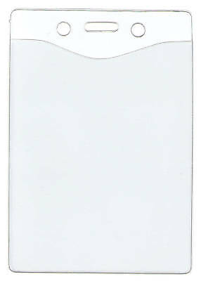 Lot 25 Clear Vinyl Id Badge Holders - 4 Sizes Available