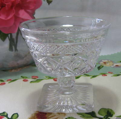 Imperial Glass Cape Cod Footed Sundae Glass