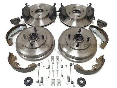 Ford Focus Mk1 Rear 2 Brake Drums Shoes Front Discs Pads Wheel Bearing Cylinders