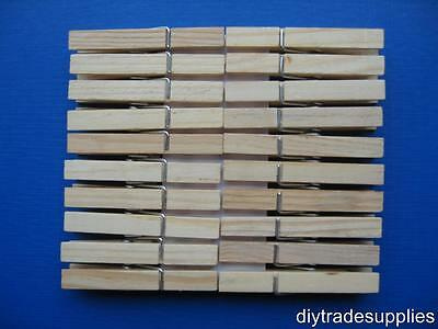 Wooden Sprung Clothes Washing Line Pegs Pack 20